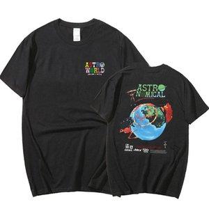 Travis Scuotshirts Astroroworld T-shirt Hommes Femmes Été Harajuku Hip Hop Tee Tee T-shirts Cactus Jack Print T-shirts
