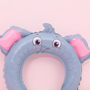 Cute Rabbit Ears Hairbands Inflatable Balloon Head Bands Adorable Hair Sticks Creative Party Gifts Animal Elephant Cat Fog Dog Pig EEF3992 A