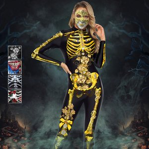 Halloween Costumes For Women Horror Zombie Costume Female Sexy Skeleton Costume Clothes Jumpsuit Bodycon S-XL