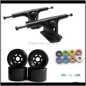 Skateboarding Action Sports & Outdoors Drop Delivery 2021 8-Inch Bracket Electric Skateboard Auxiliary Bridge 90Mmpu Wheel Color Bearing Set