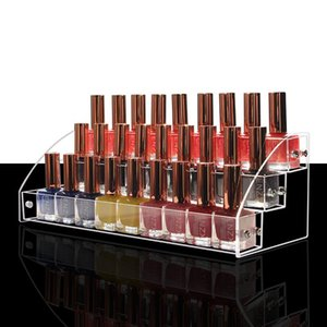 Layers Acrylic Clear Nail Polish Display Cosmetic Varnish Organizer Stand Holder Manicure Tool Storage Box Boxes & Bins