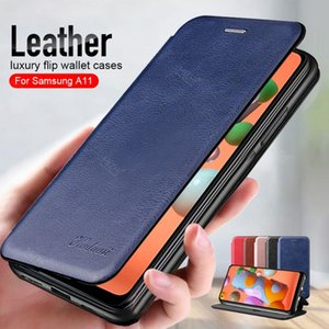 For A11 Case Leather Flip Magnetic Galaxy A 11 A115F Wallet Stand Book Phone Cover Coque Fundas 6.4 Cell Cases
