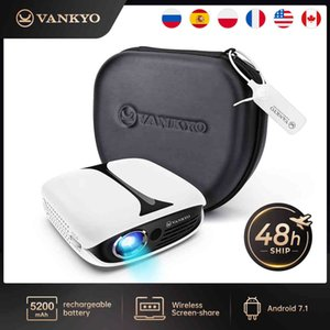 VANKYO Burger 101 DLP Wireless Recharge Mini Projector Support USB With Rechargeable 3D Glasses