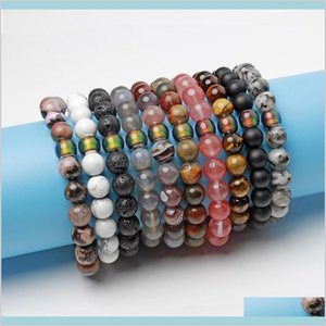 Natural Stone Mood Beads Bracelet Tiger Eye Turquoise Bracelets Temperature Beaded Fashion Jewelry Will And Sandy Oyakd Strands M13Qa
