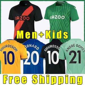 Everton 21 22 Jersey de football James Richarlison 2021 2022 Calvert-Lewin Digne Sigurdsson Shirt de football Doucoure Bernard Hommes Jersey Jersey Thaïlande