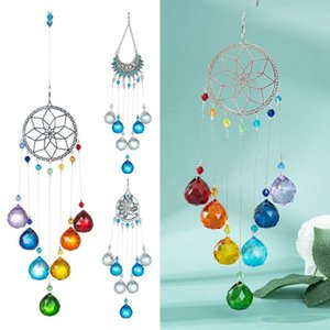 Crystal Sun Catchers Fatima Evil Eye Pendant Chakra Crystals Suncatcher Rainbow Maker Lighting Home Window Hanging Decor Garden Decorations