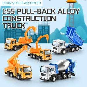 Mini Engineering Alloy Car 1:55 Pull Bakc Alloy Construction Truck Toy Model Vehicle for Boys Kids Birthday Gift 03