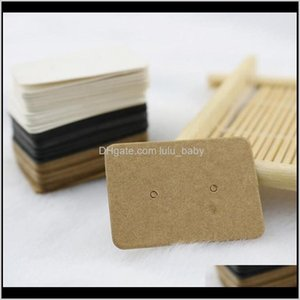 2535Cm Kraft Paper Stud Earrings Jewelry Display Retail Earring Hang Label Hooks Cardboard Tags Sv9El Pxgmm