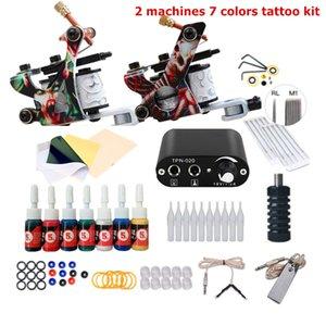 Complete Tattoo Gun Kit для начинающих источник питания чернила иглы оружия маленький корпус Art Machine Set Permage Makeup
