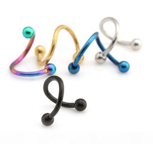 Trendy Nose Rings Body Piercing Jewelry Fashion Jewelry Stainless Steel Nose Hoop Ring Fake Nose Rings