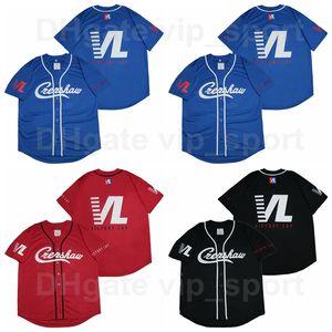 Victory Lap Nipsey Hussle CREENSHAW Jersey de béisbol Hombre Hip Hop Rap Team Color Negro Rojo Azul Cotton Puro Bordado Bordado Alta Calidad
