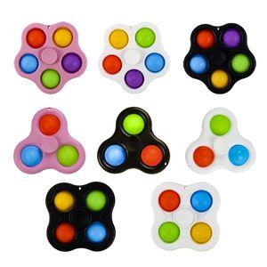 İpi Fidget Basit Demple Oyuncaklar Şenlikli Bölüm Malzemeleri Kabarcık Poppers Anahtarlık Push Pop Spinner Kurulu Stres Rölyef Dekompresyon Parmaklık Q6