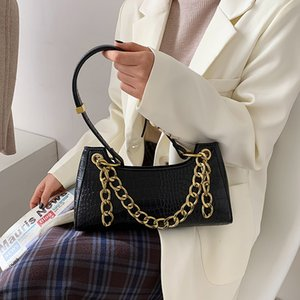 French Pearl Chain Women's 2021 Spring Fashion One Shoulder Cross Arm Atmosphere Portable Dinner Bag