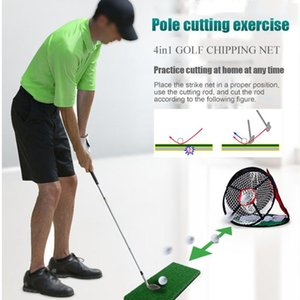 Golf Training Aids Practice Cutting Net Aid 4 Sides Hitting Pitching Networks