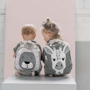 Ins Style Baby Plush Backpack 3-8 Yrs Bags Cartoon Animal Children's Schoolbag Snacks Toys Storage Bag Room Decoration Backpack C0407