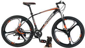 Eurobike Aluminum Frame Mountain Bike 27.5 Inch 3 Spoke Wheels 21 Speed Adult Bicycle Blackred
