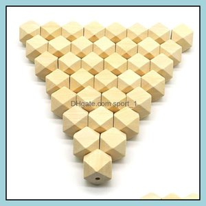 Wood Loose Jewelrywood Spacer Beads Natural Unfinished Geometric Jewelry Diy Wooden Necklace Making Findings 100Pcs Lot 10-20Mm Drop Deliver