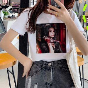 Weibliche Lana del Rey Männer T-shirts Harajuku Fans Ästhetische Ullzang-Druckmädchen 90er Jahre Grafik Koreanische Top-T-Shirt