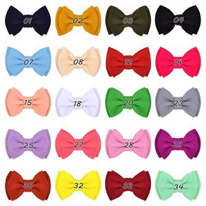 Baby Girls Bows Hairclips Hair Accessories Childrens Princess Bowknot Hairpins Solid Bow Kids Infant Barrettes Headwear