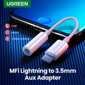 Ugreen MFi Lightning to 3.5mm Jack Headphones Adapter 3.5 AUX Cable Converter for iPhone 12 SE 11 Pro Max X XR iPhone 7 8 8P Q0515