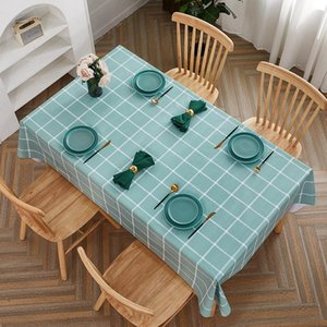 Table Cloth PVC Waterproof Oilproof Dining Tablecloth Kitchen Decorative Rectangular Coffee Cuisine Party Covers