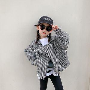 Куртки 2021 Осенние Девушки Прохладный Модный Зажим Пальто Детские Детские Детские Детские Рукавы Куртка