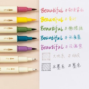Highlighters 3 Pcs Color Double Head Marker Set Hand Account DIY Fluorescent Graffiti Pen Art Drawing Soft Line Stationery