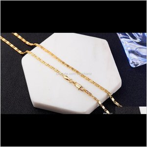 & Pendants Drop Delivery 2021 2Mm Fashion Luxury Womens Jewelry 18K Gold Necklace Chain 925 Sier Plated Chains Necklaces Gift Wholesale Acces