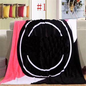 Coral Fleece Blankets Shawl Carpet Letter Printed Women Men Towel Portable Car Office Nap Home Blanket