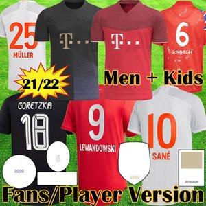 20 21 22 Davies Bayern Club Dünya Şampiyonlar See HRFC Futbol Forması Lewandowski Gnabry Muller Münih Futbol Gömlek Erkekler Çocuk Ekipmanları Kiti Munchen 2021 2022 4th Tops