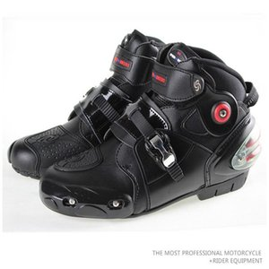 Pro-biker Summer Moder Motorcycle Boots SPEED BIKERS Microfiber Leather Racing Waterproof A90031