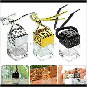 Diffusers Fragrances Décor Home Garden Drop Delivery 2021 Cube Hollow Car Per Ornament Hanging Air Freshener For Essential Oils Diffuser Frag
