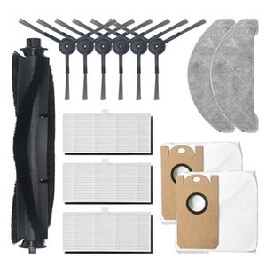 Vacuum Cleaners 11Pcs Replaceble Dust Bags Cloth Side Brushes Accessories Set Parts For S9 Cleaner Sweeper Replace Home