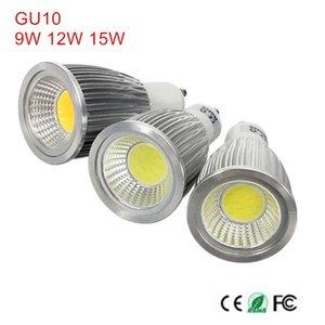 Bulbs 1Pcs Super Bright GU 10 Light Dimmable Led Warm Cold White AC85-265V 9W 12W 15W GU10 COB Lamp Spotlight