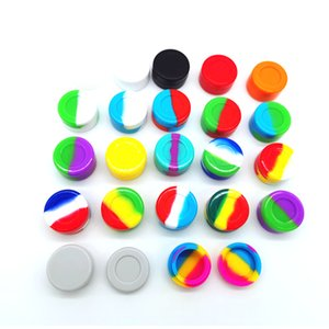 Round 5ml Silicone Boxes Jar Bottles Container Tub Jars Tool Oil Rigs Slicks For Smoking Accessories Box Storage HH21-266