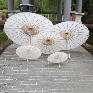 Paraguas de Libro Blanco Parasoles de boda de estilo chino Mini Artesanía Paraguas DIY Pintura Boda paraguas