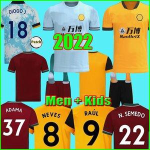 Top Thailandia 21 22 Maglie da calcio SEMEDO RAUL NETO 2021 2022 Wanderers J.OTTO PODENCE Wolverhampton Maglie da calcio ADAMA Uomo Bambini Kit calzini Uniformi