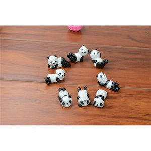 Wholesale-10x Ceramic Ware Panda Chopstick Rest Porcelain Spoon Fork Knife Holder Stand Cute Lovely Animal Shaped Home Use Dinner Party