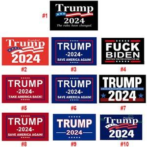 20 estilos trunfo bandeiras 3x5 ft 2024 re-eleito tomar américa volta bandeira com bronze ilhós patrióticos patrióticos