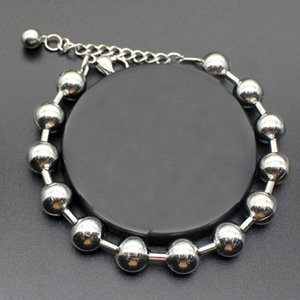 Oulai777 Beads Bracelets For Womens Stainless Steel Chain On Hand Charm Chains Hip Hop Rock Simple Bracelet Jewelry Link,