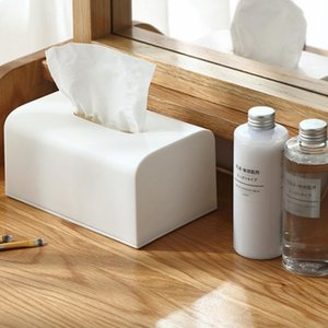 Tissue Boxes & Napkins Plastic Box Square Home Container Car Holder Case Organizer Kitchen Holdler Simple Stylish