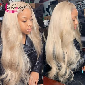 Blonde HD Transparent Body Wave Lace Frontal Human Hair Wigs 613 Glueless Wavy Remy Wig Pre Plucked Bleached Knots 13x6x1