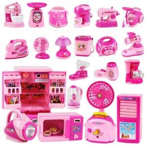Plastic Kitchen Toys Kids Pretend Play Kitchen Set Toys For Girls Blue Pink Kitchen Utensils Childrens Toy