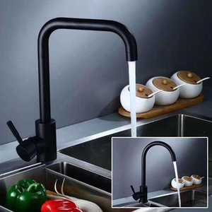 Black Stainless Steel Kitchen Faucet Bathroom Sink Water Tap And Cold Single Handle Shower Faucets
