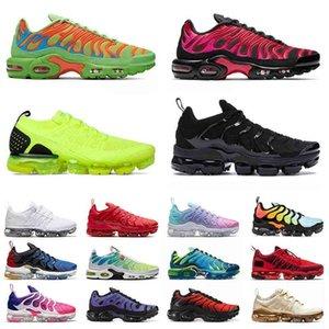 TN زائد أحذية رجالي إمرأة جودة عالية TNS حجم كبير 13 أحذية رياضية كل أسود أبيض قبالة ذبابة متماسكة moc المدربين اليورو الأعلى بليد
