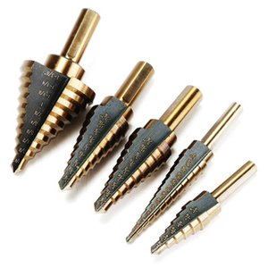 Drill Bits 5pcs Set HSS Cobalt Multiple Hole 50 Size Step Bit Set Coming Include Aluminum Case Arrival High Quality DEC517 JDT4