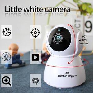 Telecamere V380App WiFi Camera Little Pupazzo di neve Ufficio Indoor Bianco Cellulare Telecomando Remoto 360 ° Rotante Nuvola View 1080P Visione notturna HD