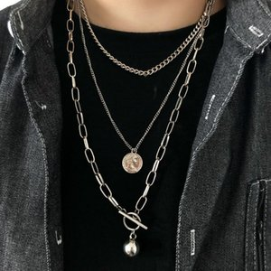 European And American Street Hip-hop Style Multi-layer Men Trend Personality Womens Necklace Creative Simple For Women Pendant Necklaces