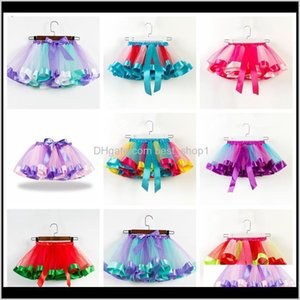 19 Colors Baby Girls Tutus Rainbow Color Girl Tutu Skirts With Bow Kids Mesh Cake Layer Performa Dresses Fit 211 Years Ov6P6 Wwyez