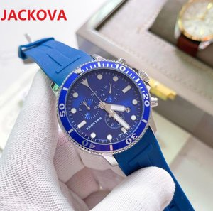 Rubber Silicone Steel Mesh Watches 42mm Luxury Super Good President Day Date Watch mens reloj Wristwatch Stopwatch